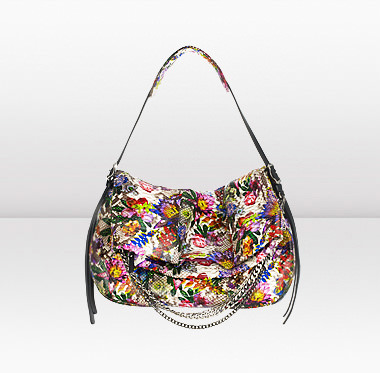 Biker L- Printed Python Shoulder Bag