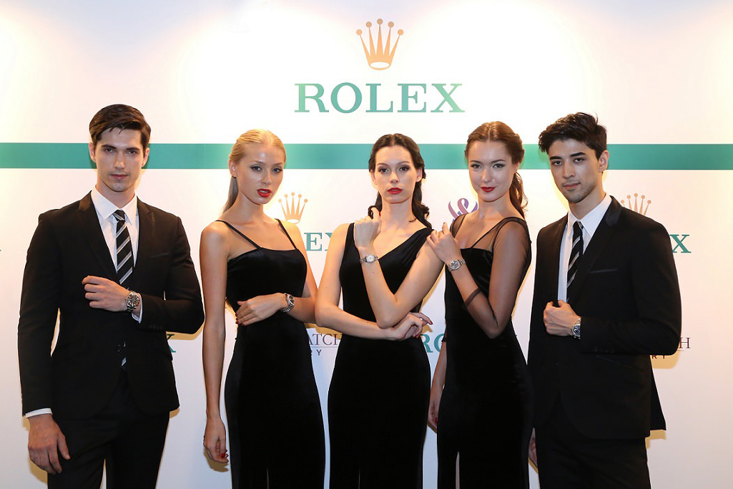 A bevy of gorgeous models showcasing Rolex timepieces
