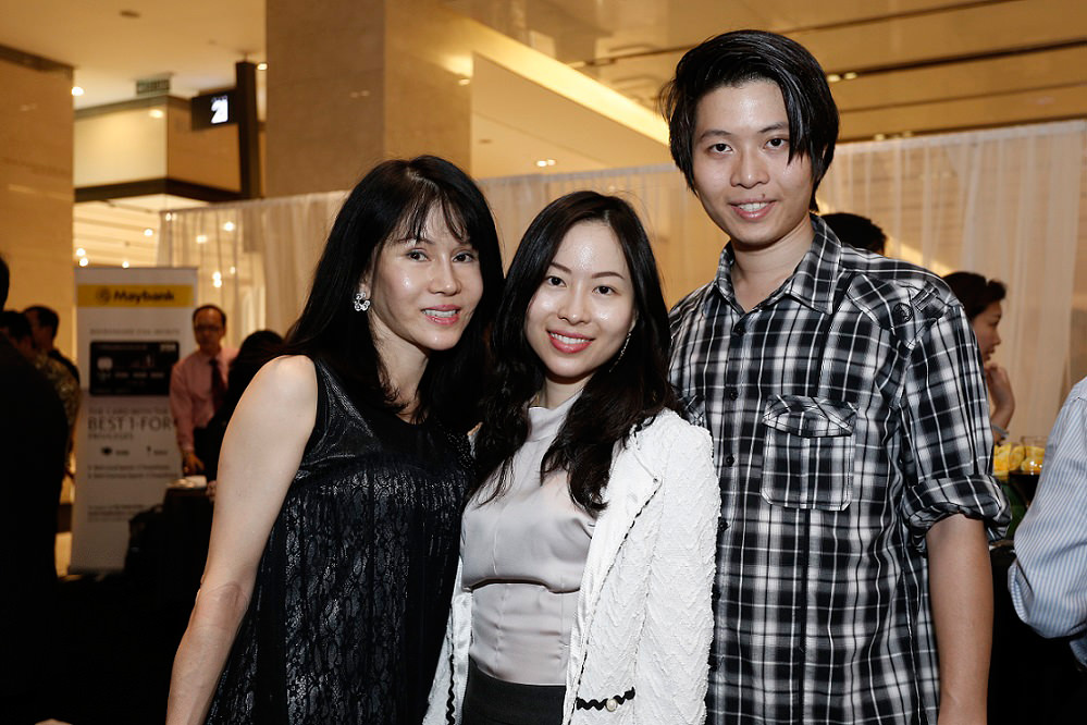 From L - R Datin Isabell, Caleen Chua, Marx King Chua