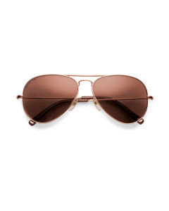 GOLD-TONE DYLAN FLASH LENS AVIATOR