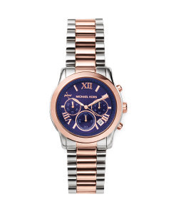 SILVER-TONE ROSE GOLD-TONE COOPER WATCH