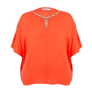 Short Sleeve Embellished Blouse (2)