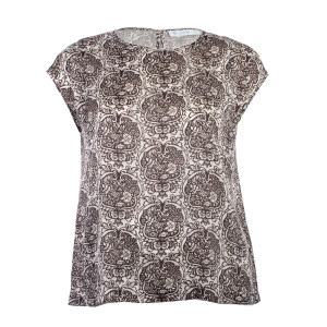 Short Sleeve Printed Blouse