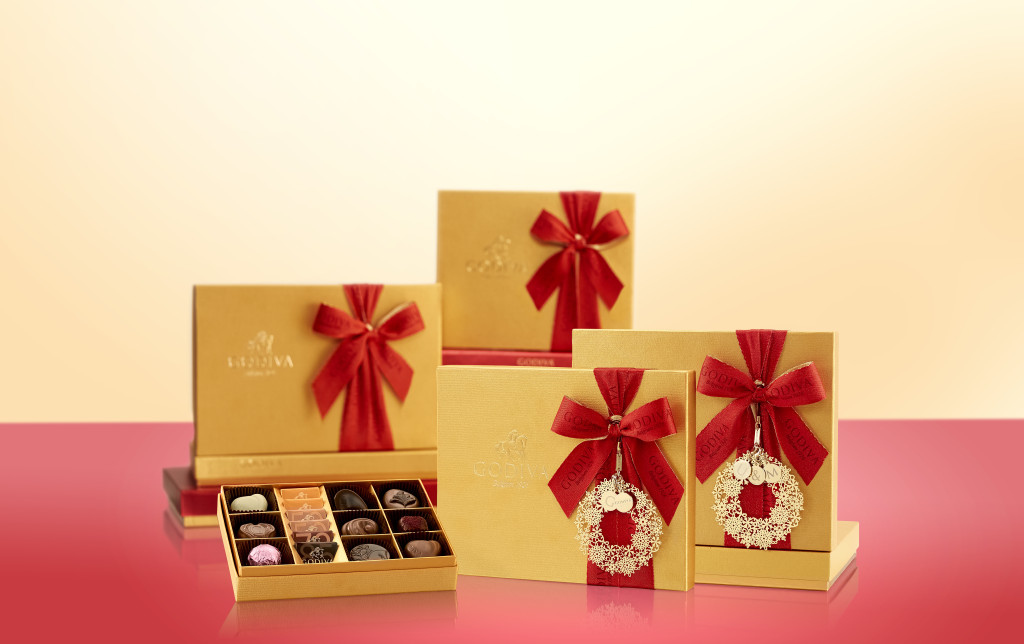 Christmas Gold Ballotin Gift Box