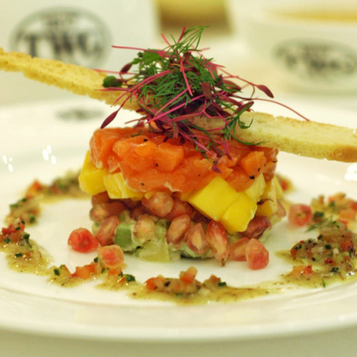 Cured Salmon Timbale