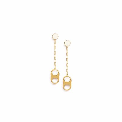 TB Gemini Link Drop Earring 40478 in New Ivory-Tory Gold
