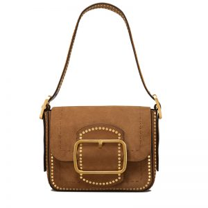 TB Sawyer Stud Seude Small Shoulder Bag 42111 in Festival Brown