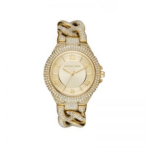 Camille-Pavé-Gold-Tone-Watch
