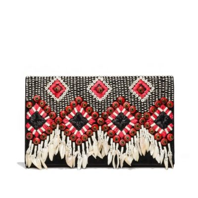 TB Brooke Embellished Clutch 44996 in Black