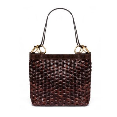 TB Farrah Woven Tote 44373 in Brown