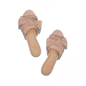 TB Annabelle Bow Slide 48210 in Perfect Blush