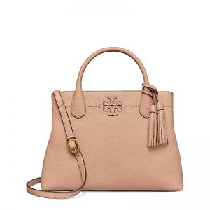 TB Mcgraw Triple-Compartment Satchel 40405 in Devon Sand
