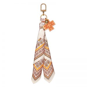 TB Scarf Key Fob 46585 in Hicks Garden