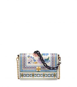 TB Kira Floral Shoulder Bag 48873 in Ivory Meadow Folly