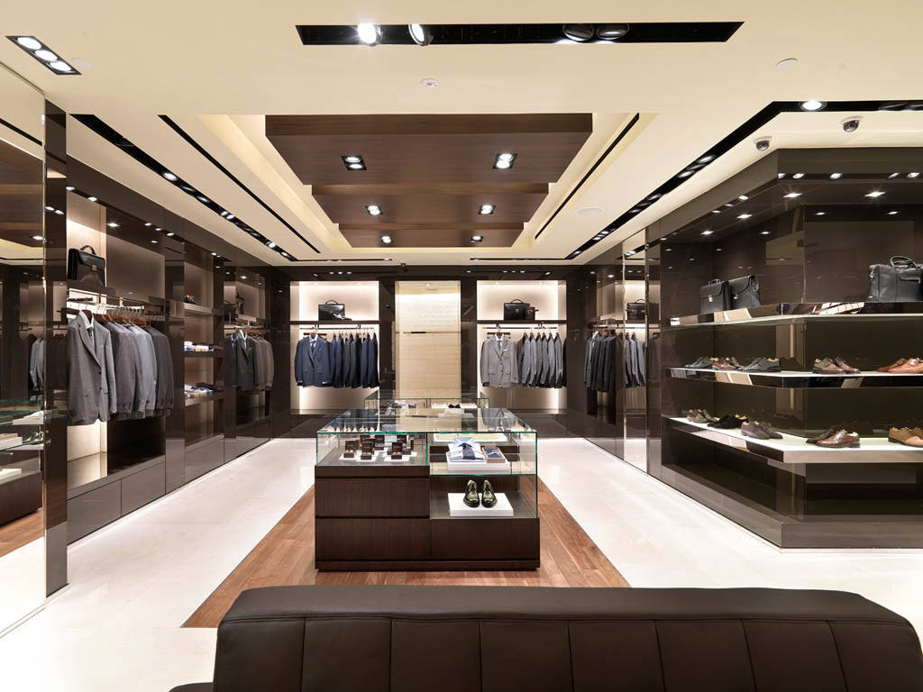 Canali Suits, Shoes and Bags being displayed at our Canali Store location