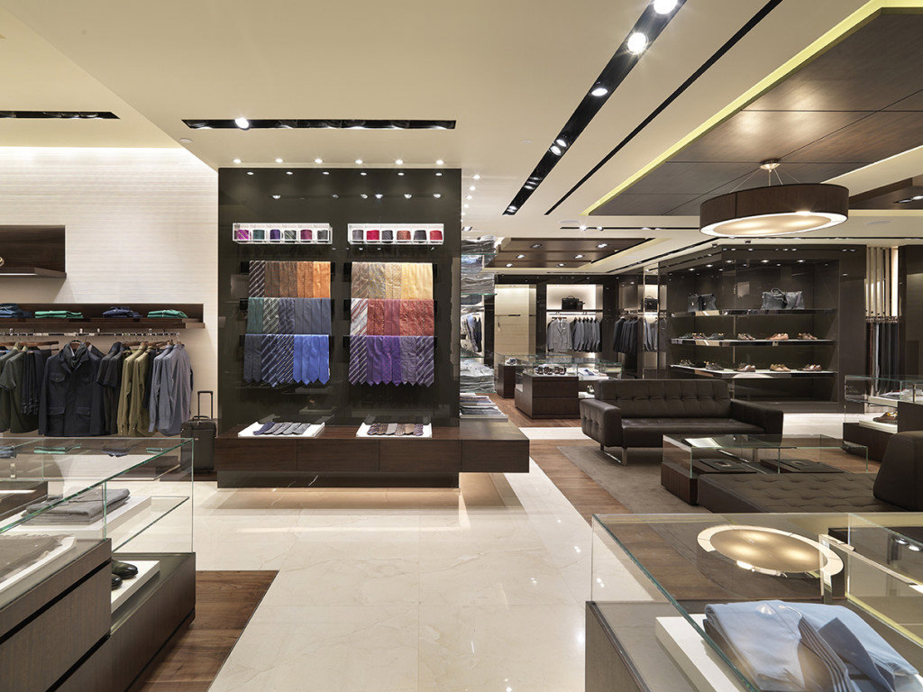 Another view of Canali Store, Luxury Menswear Collections offering Canali Suits, Ties, Bags, Shoes and Accessories