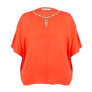 Short Sleeve Embellished Blouse (2)