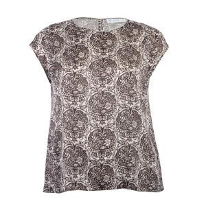 Short Sleeve Printed Blouse