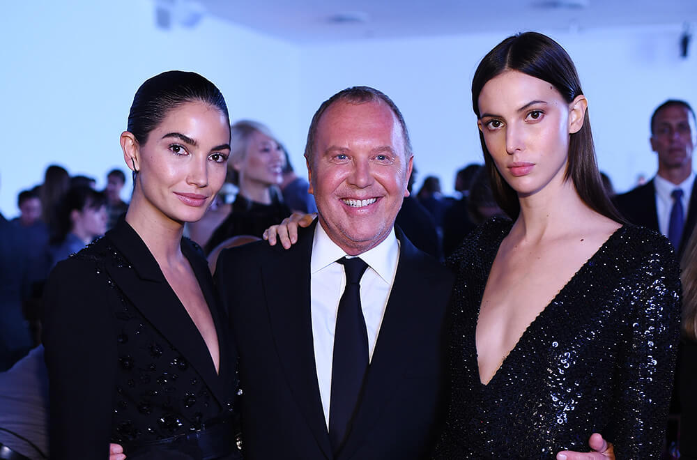 10th Annual Golden Heart Awards Dinner _ Lily Aldridge, Michael Kors & Ruby Aldridge