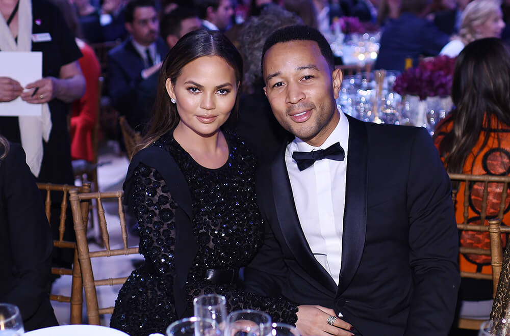 10th Annual Golden Heart Awards Dinner _ Chrissy Teigen & John Legend