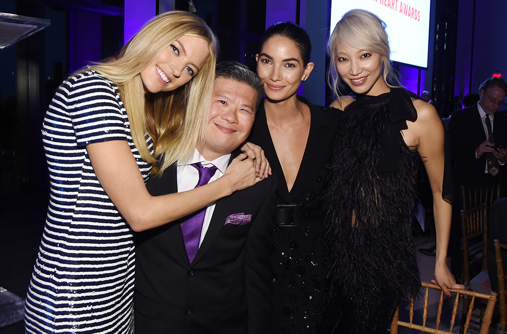 10th Annual Golden Heart Awards Dinner _Martha Hunt, Wing Tat Leung, Lily Aldridge & Soo Joo Park