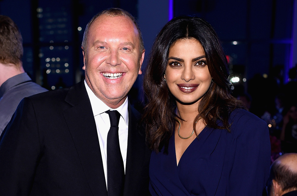 10th Annual Golden Heart Awards Dinner _ Michael Kors & Priyanka Chopra