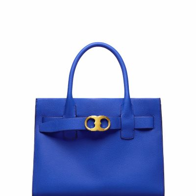 TB Gemini Link Leather Tote 42049 in Blue Dahlia