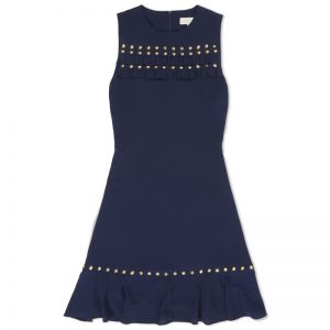 studded crepe dress