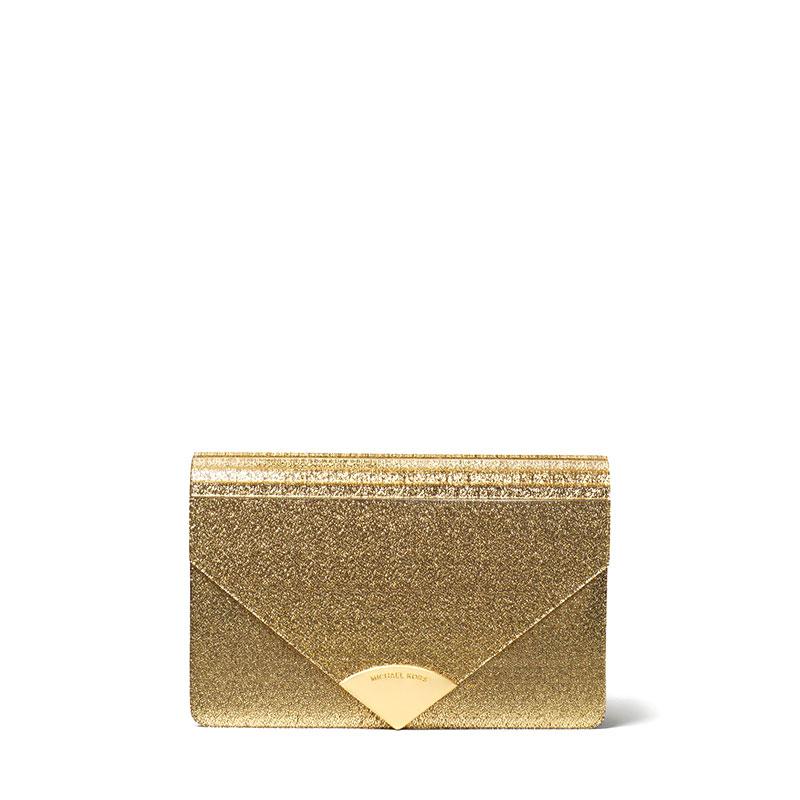19b5548d705 Michael Kors Barbara Metallic Envelope Clutch   Valiram Group