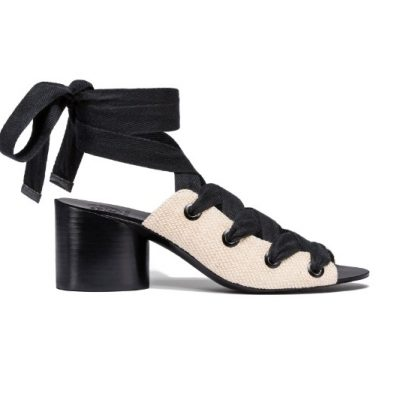 TB Fawn 65mm Sandal 45613 in Natural-Black