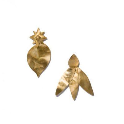 TB Hammered Metal Leaf Earring TBD