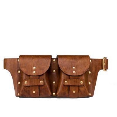 TB Studded Belt Bag 44378 in Woodgrain