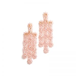 The Bead Goes On Statement Earrings (Pink)