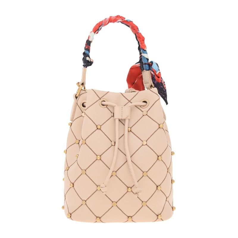 1b176a75851a Charles   Keith – Embellished Quilted Drawstring Bucket Bag ...