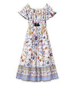 TB Meadow Folly Dress 50749 in Ivory Meadow Folly
