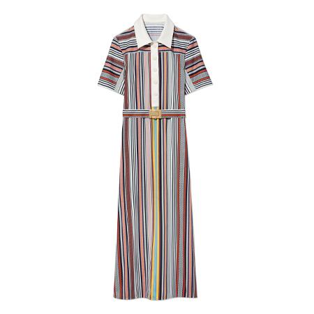 d2ff91304b84 Tory Burch Striped Polo Dress (Webbing Stripe)
