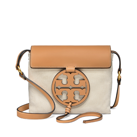 894420afe Tory Burch Miller Canvas Cross Body (Natural)