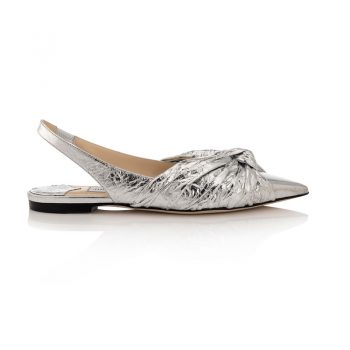 ANNABELL-FLAT---METALLIC-FOIL-LEATHER---SILVER