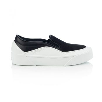 CHOO-V.B.C-SLIP-ON-F---SUEDE,-SOFT-LEATHER---BLACK,-WHITE