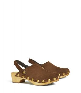 TB Blythe 50mm Studded Clog 57268 in Arabica (2)