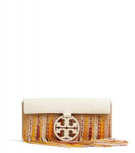 TB Miller Fringe Clutch 56237 in Natural-New Ivory