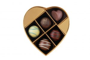 Summer Romance Chocolate Heart Gift Box 5pcs.