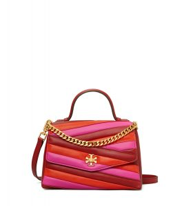 TB Kira Chevron Color-Block Top-Handle Satchel 64202 in Red Apple-Bright Samba-Crazy Pink_RM2850