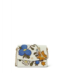 TB Robinson Applique Convertible Shoulder Bag 60974 in New Ivory